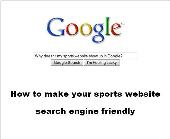 SEO for sports web sites